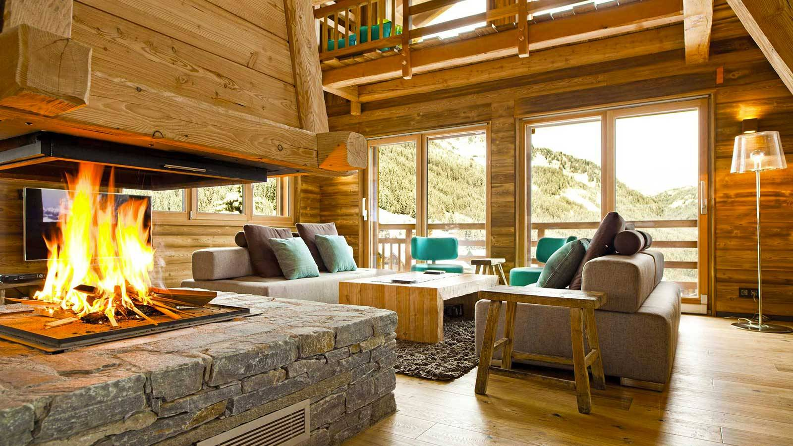 Emejing chalet en bois interieur gallery design trends for Decoration maison interieur